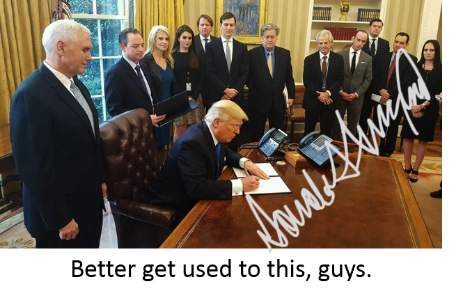 3 weeks into his presidency and Donal Trump remains a controversial figure. Issuing executive orders and with his Tweets