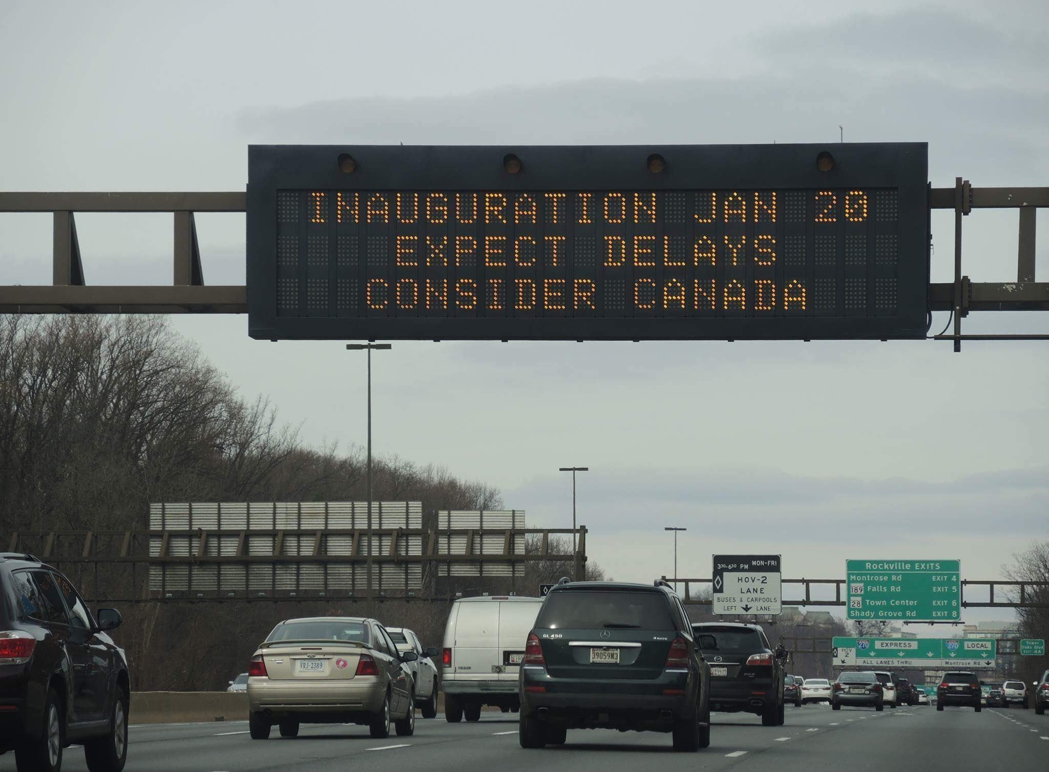 Inaugurations Jan 20 Expect Delays, Consider Canada
