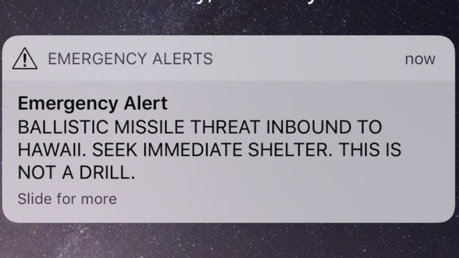 An incoming missile alert plunged residents of Hawaii into panic on Saturday morning, before it was declared a false alarm.