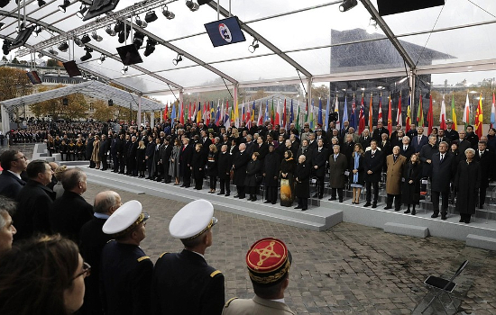 Armistice remembered. World leaders attend the Paris Peace Forum calls for peace become overshadowed by joint European Military investment.