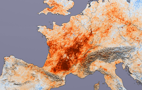 Water is a scarce commodity. Land Surface Temperature Monitoring @CopernicusEU  EU's Earth observation programme could bring help for farmers